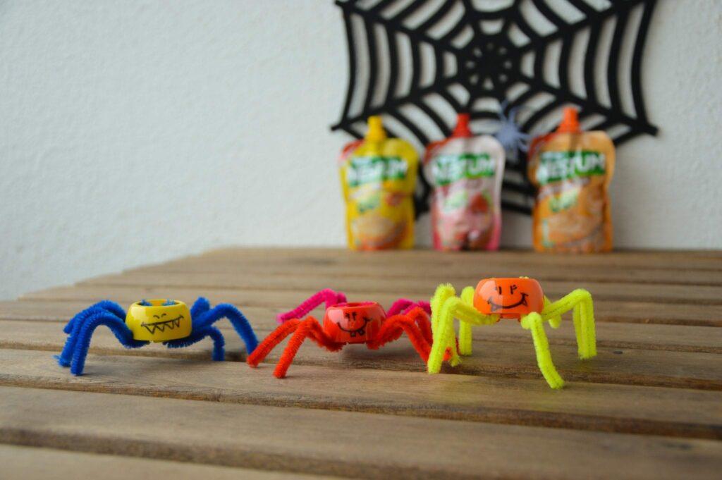 aranhas com tampas de nestum go
