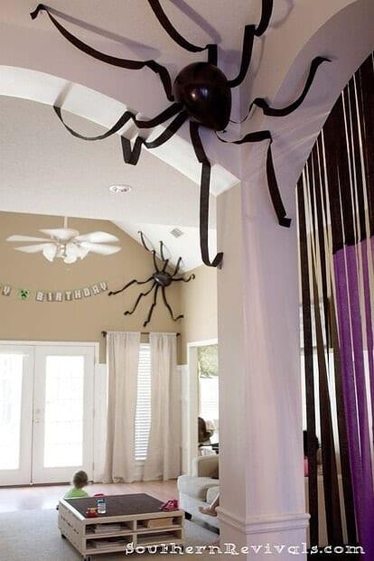 aranhas halloween balões