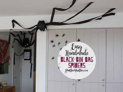 aranhas halloween sacos lixo