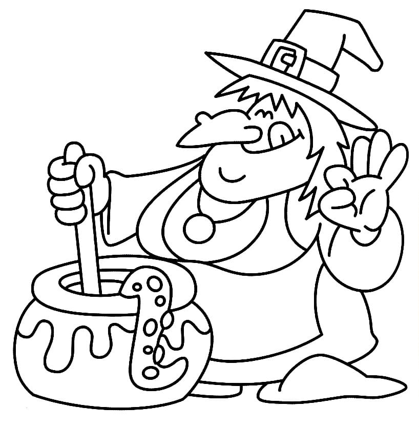 bruxa desenhos de halloween