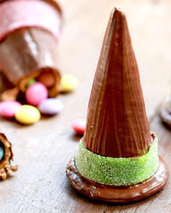 chapéu de chocolate