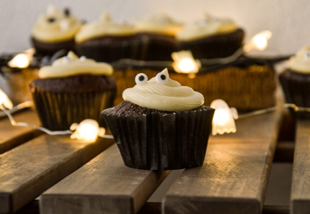 cupcakes chocolate halloween newsletter