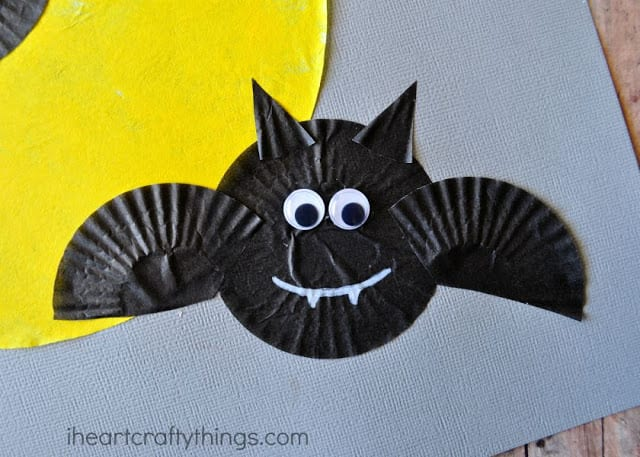 morcego halloween formas papel