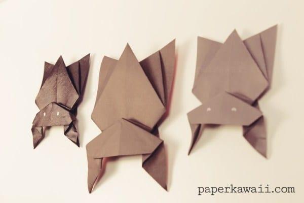 morcego halloween origami