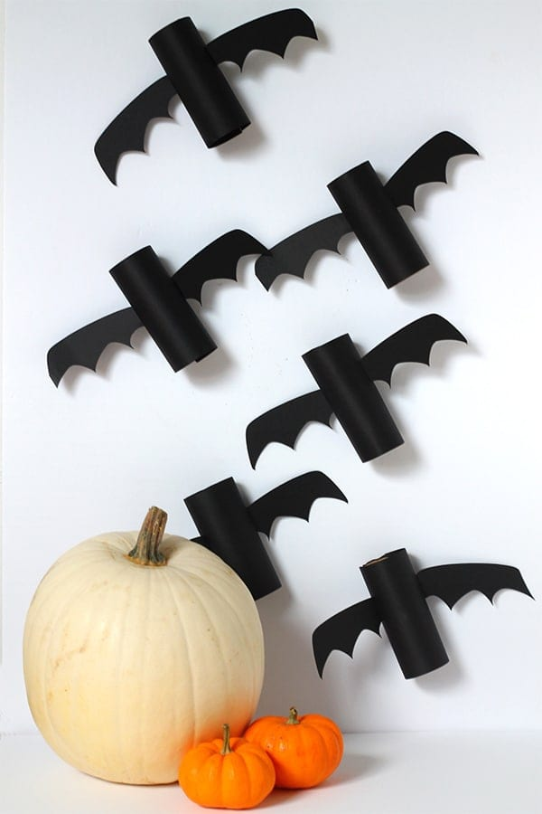morcego halloween rolos papel