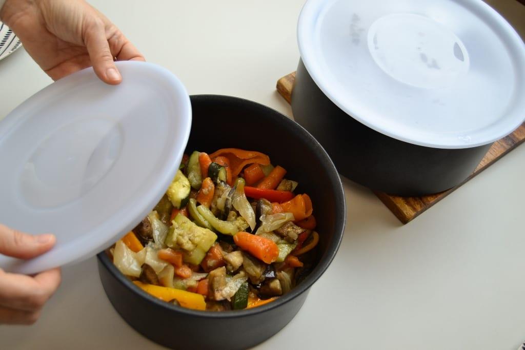 Carne assada no forno- tampas de frigideira ingenium