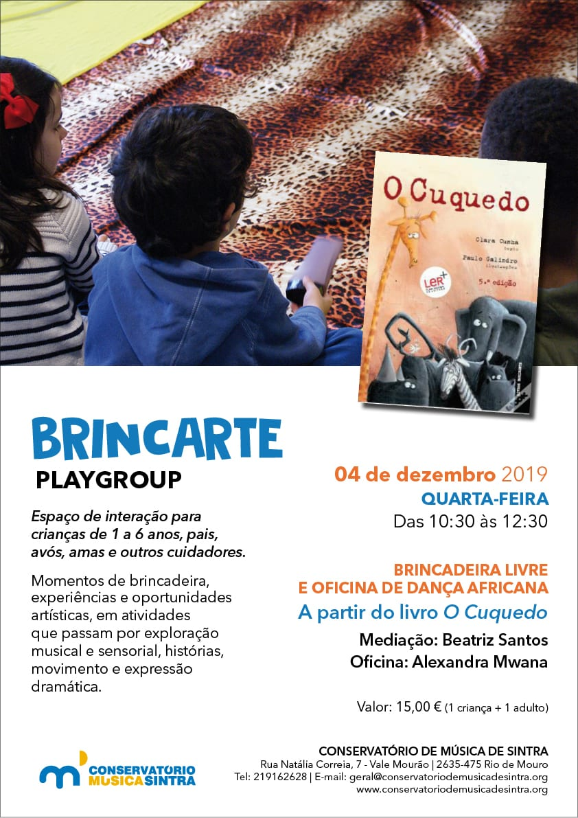 """Plyagroup BrincArte + oficina de dança africana a partir do livro """"O Cuquedo"""""""