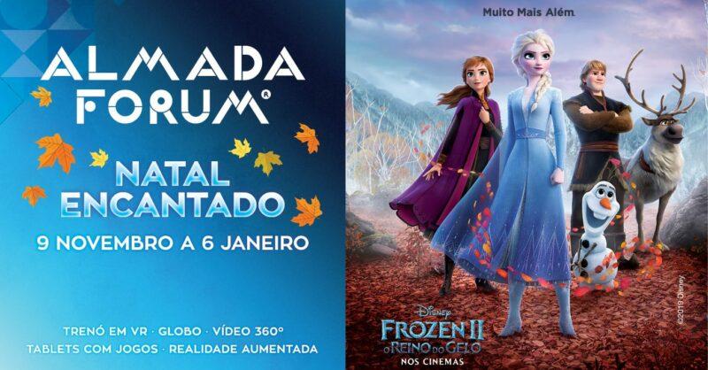 Natal encantado com Frozen no Almada Forum!