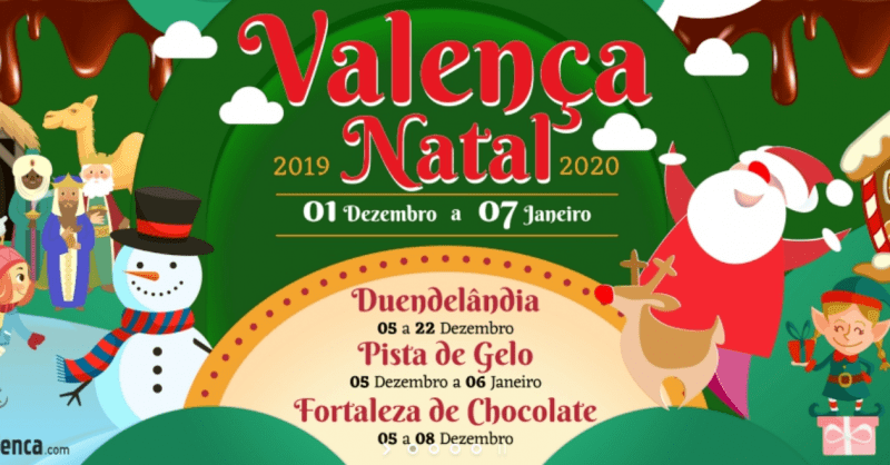 O Pai Natal traz Neve, Chocolate, Duendelândia e Pista de Gelo a Valença!