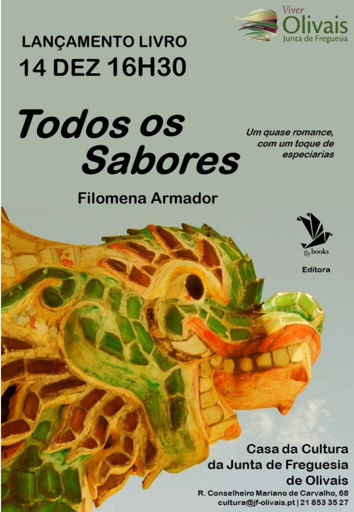 """Apresentação do livro  """" Todos os sabores """" de Filomena Amador"""