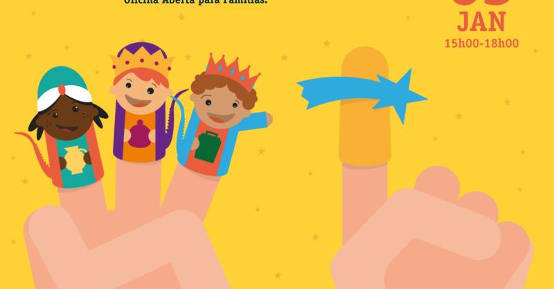 O Conto dos Reis Magos Pela Ponta dos Dedos – Oficina para Famílias