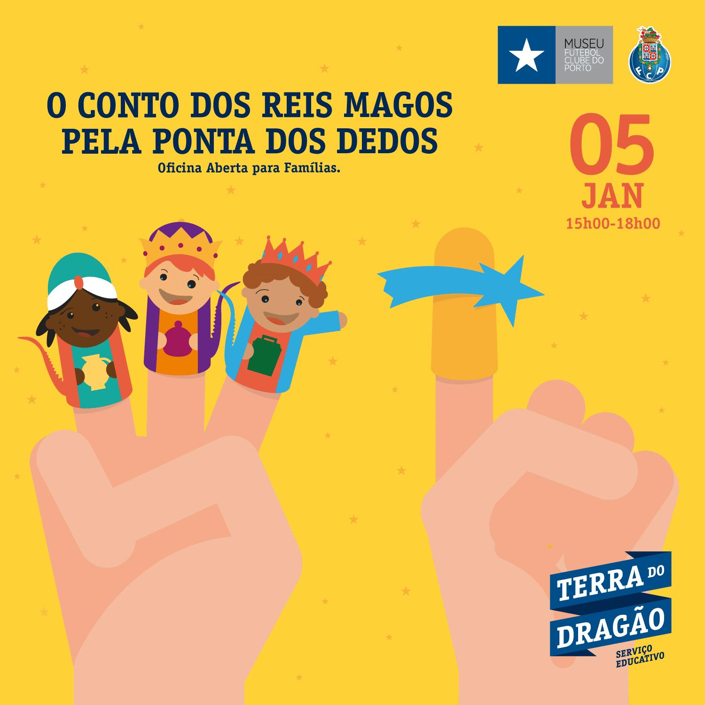 """""""O Conto dos Reis Magos Pela Ponta dos Dedos"""" – Oficina Aberta (p/Famílias)"""