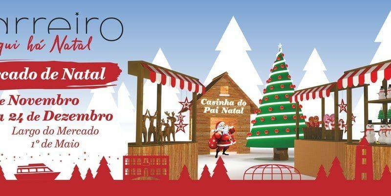 No Barreiro há um Mercado de Natal e uma Pista de Gelo Solidária!