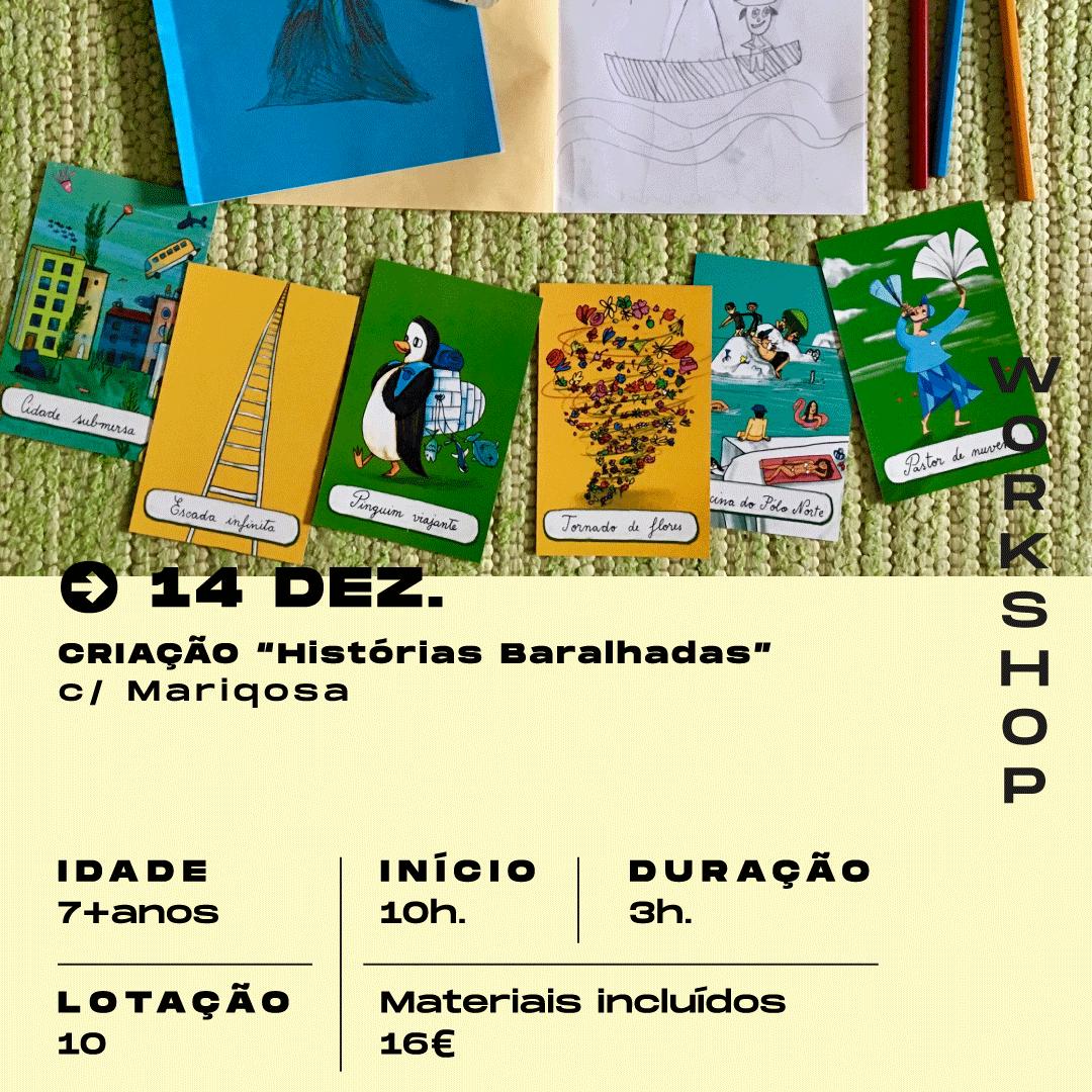 """14 Dezmebro: criação de """"Histórias Baralhadas"""", com Mariqosa"""