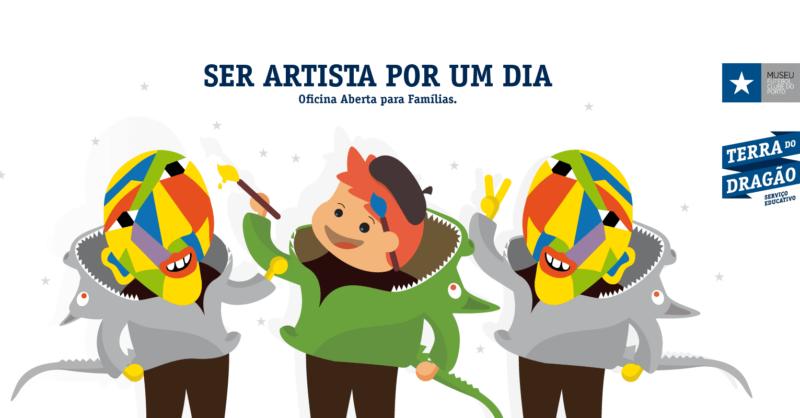 Ser Artista Por um Dia – Oficina Aberta para Famílias