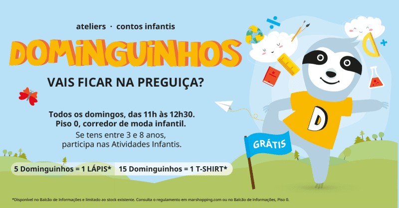 Cancelado até final de Abril – Dominguinhos no MAR Shopping Matosinhos 2020