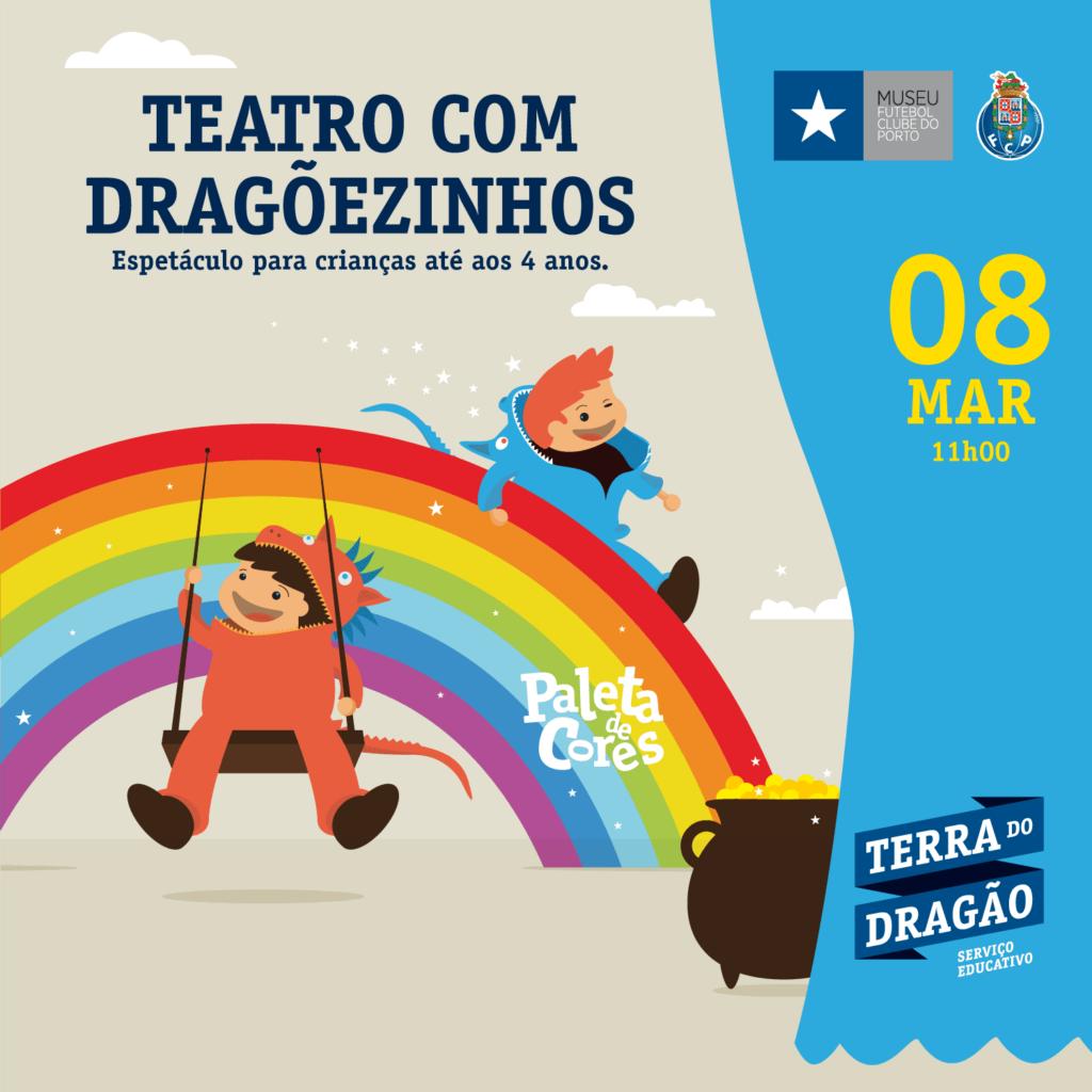 """Teatro com Dragõezinhos – """"Paleta de Cores"""""""