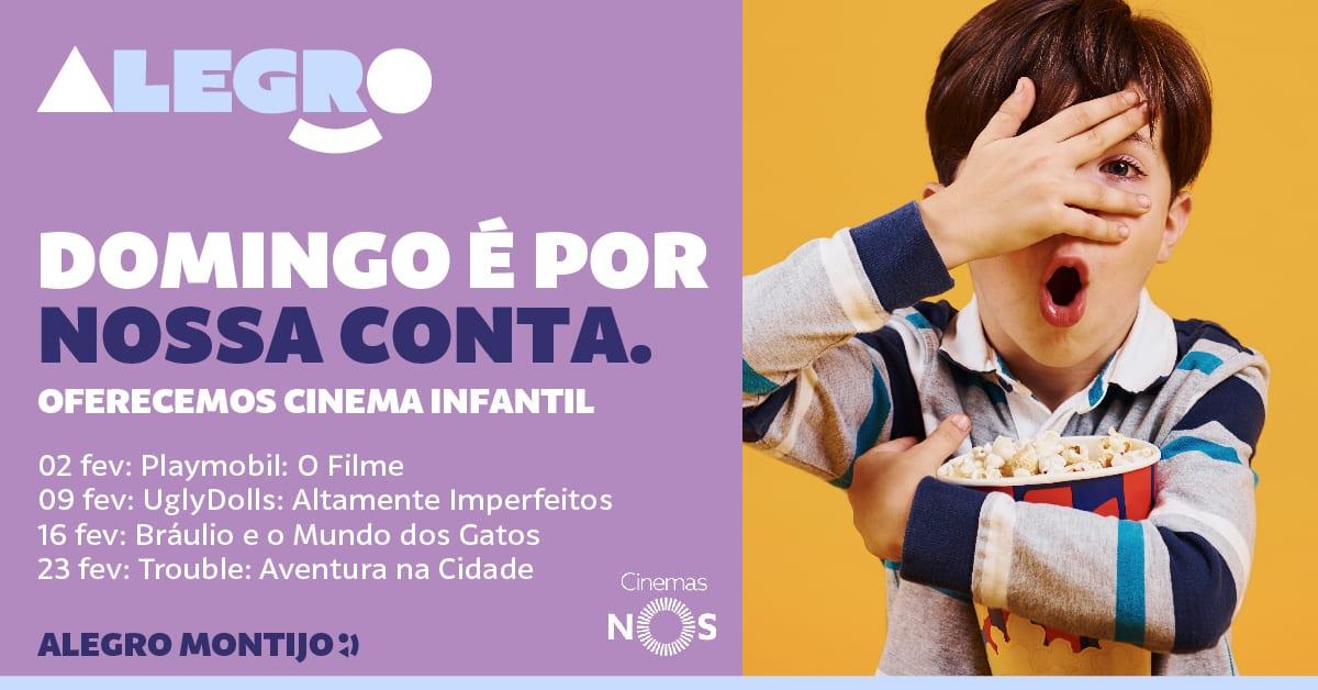Cinema infantil gratuito no Alegro Montijo