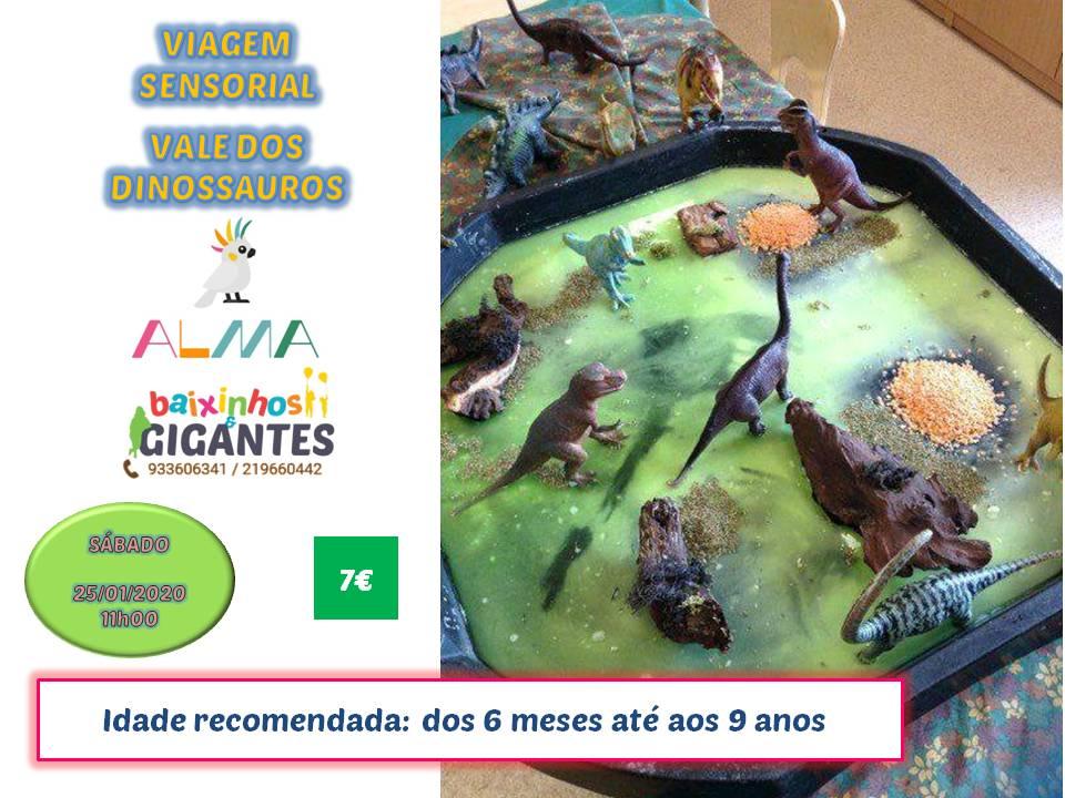 """Viagem Sensorial """"Vale dos Dinossauros"""""""