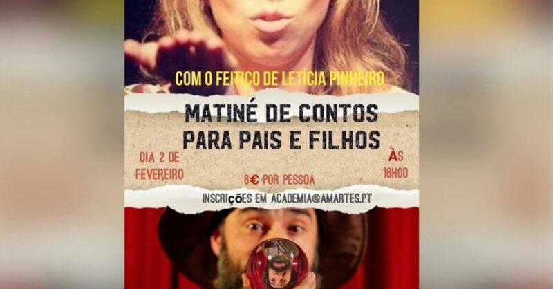 Matiné de Contos na Amartes com Letícia Pinheiro e Rui Ramos