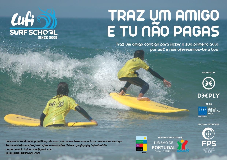 Aula de Surf – Promoção Traz um Amigo e Tu Não Pagas
