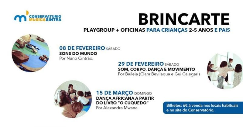 Playgroup BrincArte + oficina Sons do Mundo