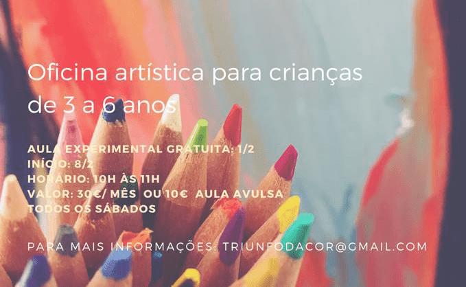 Aula experimental Gratuita: Crescer com Arte