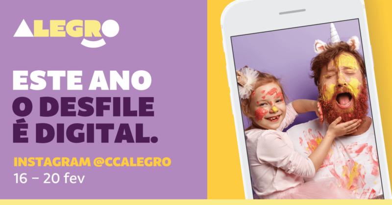 A Folia do Carnaval está no Instagram do Alegro, @ccalegro