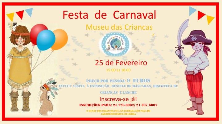 Festa de Carnaval no Museu das crianças