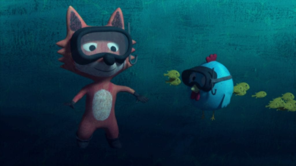 Foxy e Meg descobrem o fundo do mar