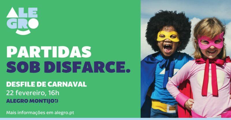 Desfile de Carnaval no Alegro Montijo