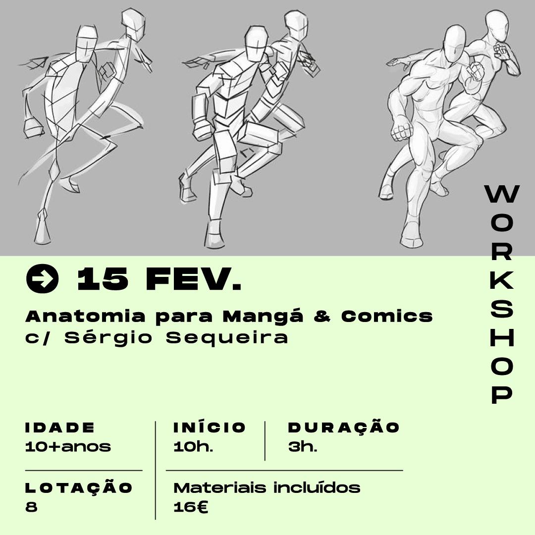 Anatomia para Manga & Comics – com Sérgio Sequeira