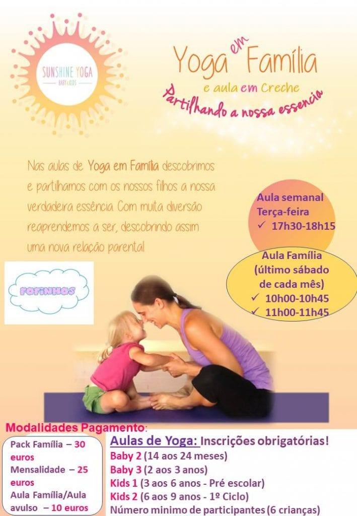 Yoga para crianças e/ou famílias