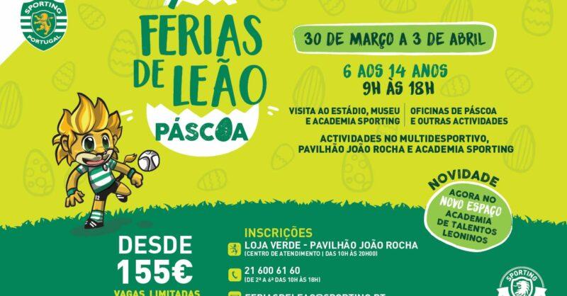 Férias da Páscoa de Leão com o Sporting Clube de Portugal