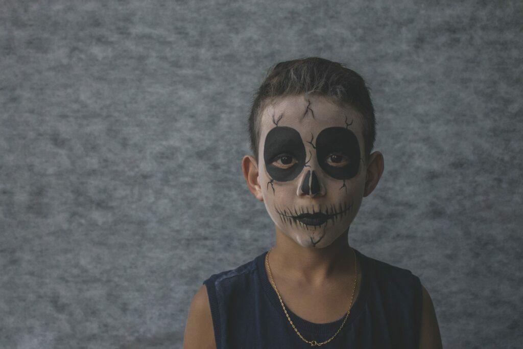 pinturas faciais de halloween