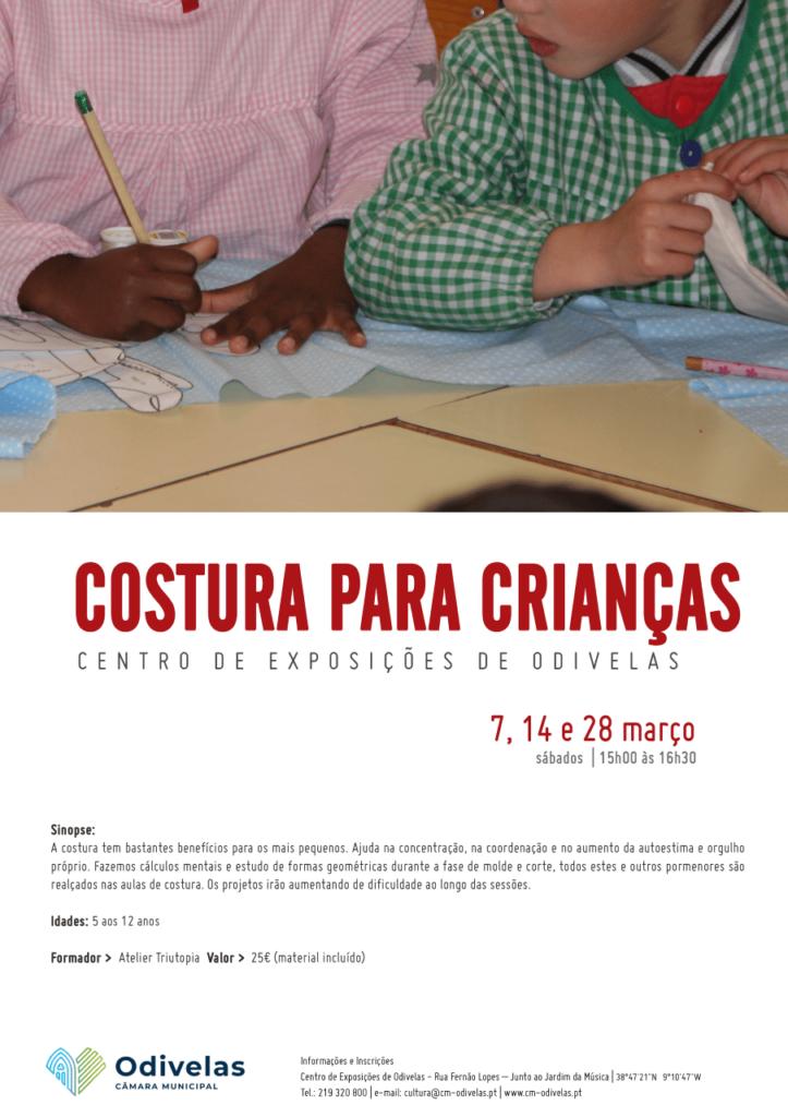 Aulas de Costura Criativa para crianças