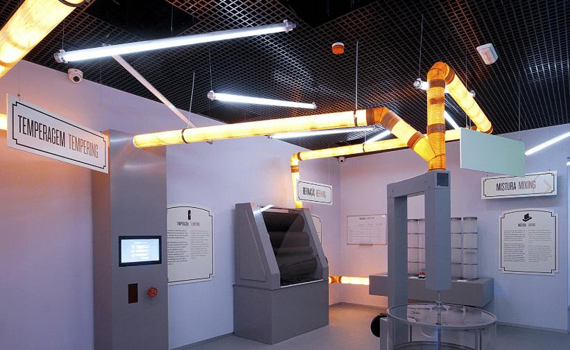 museu interativo da fábrica de chocolate fábrica