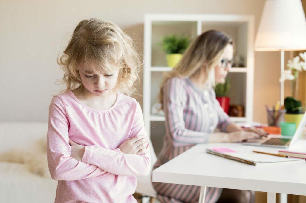 saúde mental crianças teletrabalho