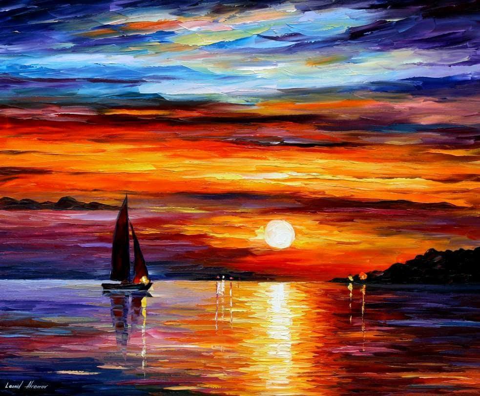 Workshop Online de Pintura em Família: Pôr-do-sol | Afremov