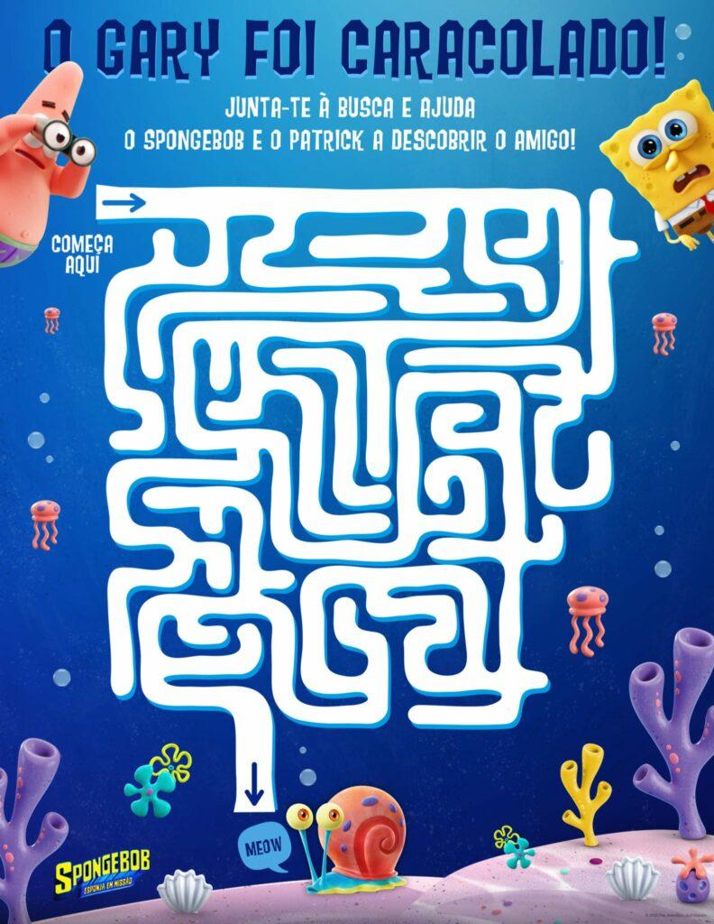 labirinto spongebob