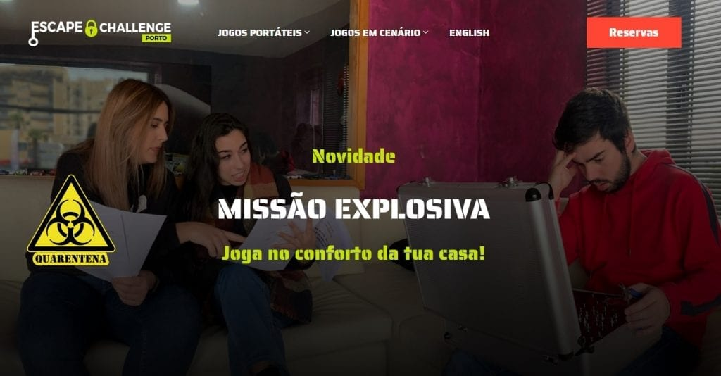 Escape Rooms Online missão explosiva