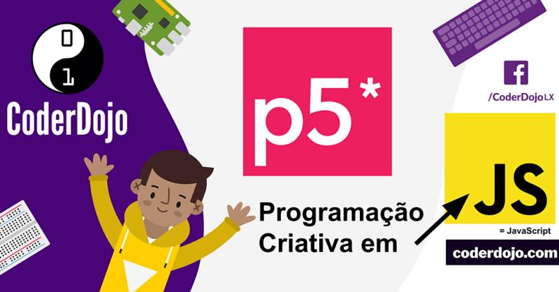 CoderDojo LX #258 – p5.js@Glitch: Programação Criativa #4