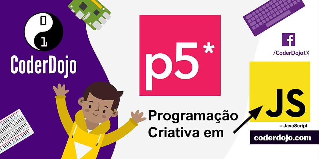 CoderDojo LX #256 – p5.js@Glitch: Programação Criativa #3