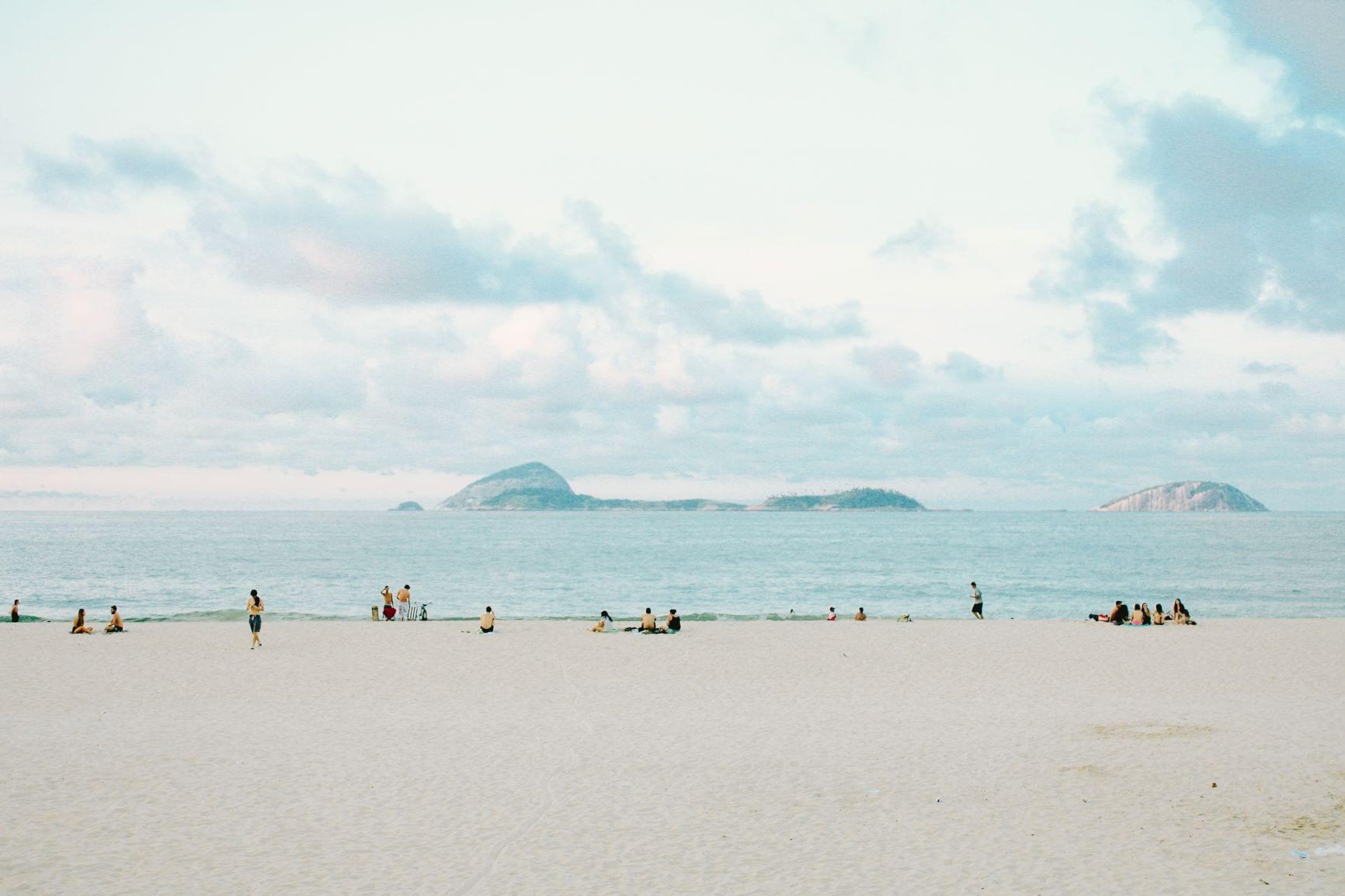 praia e COVID-19