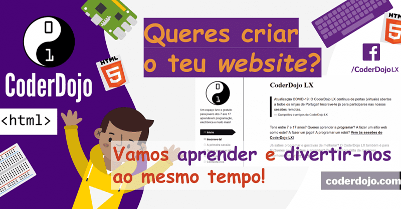 CoderDojo LX #259 – HTML/CSS: Programação web #1