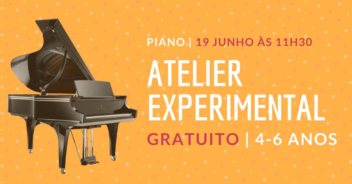 Atelier Experimental de Piano Gratuito | 4-6 Anos (Online)