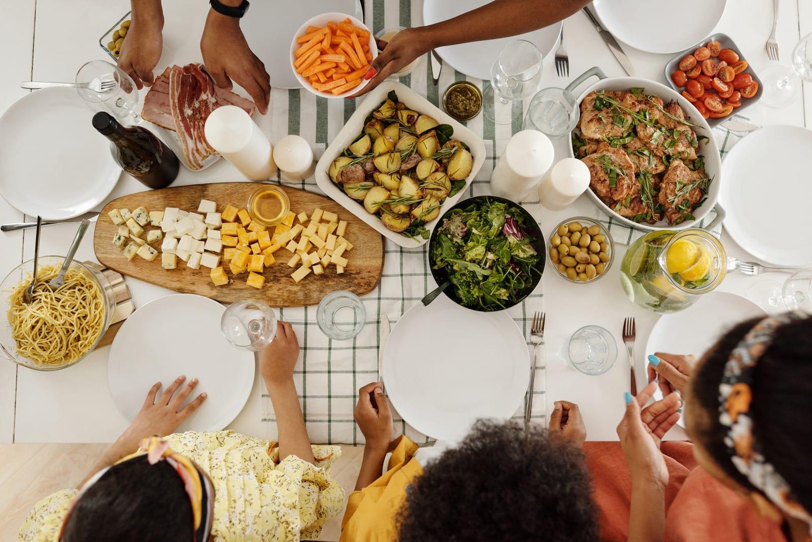 ritual de refeições em família