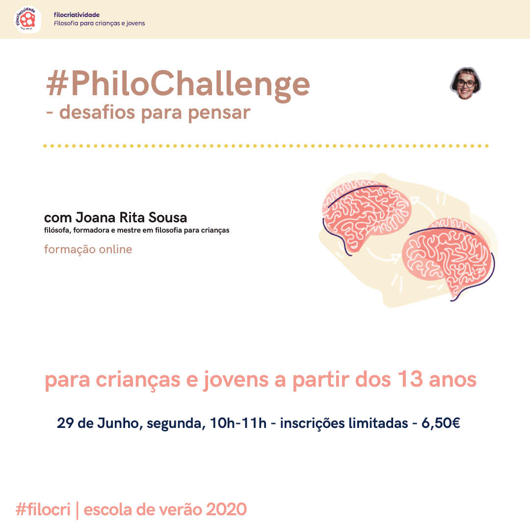– #PhiloChallenge – desafios para pensar