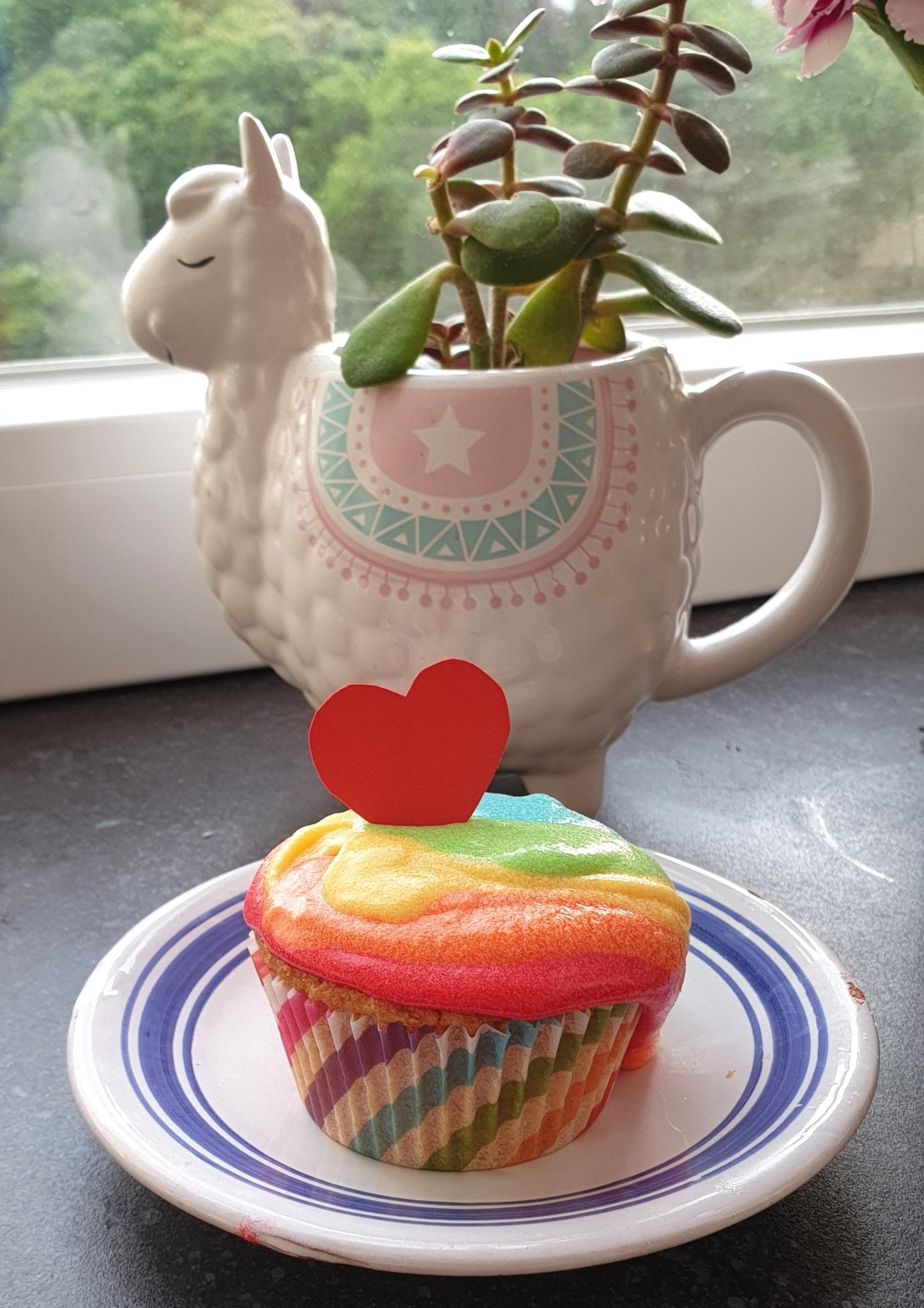foto cupcake arco iris