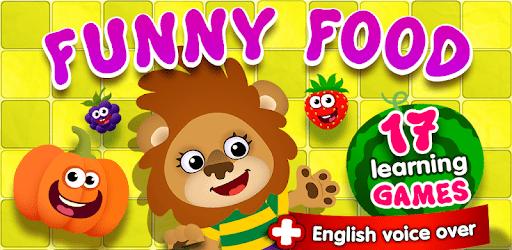 apps para crianças funny food